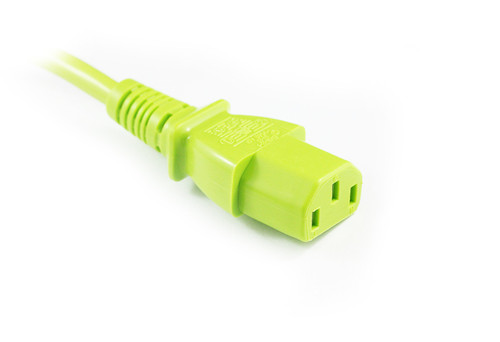 2M Green IEC C13 to C14 Power Cable