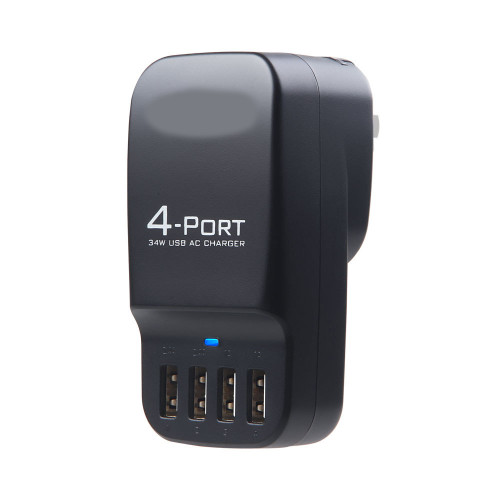 Smart 4-Port USB Travel Charger ( White )