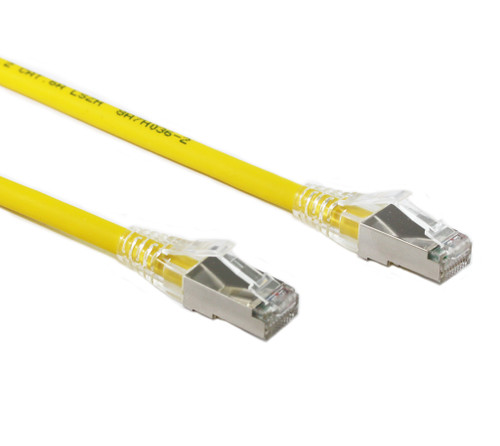 0.5M Yellow CAT6A SFTP Cable LSZH ( Component Test )