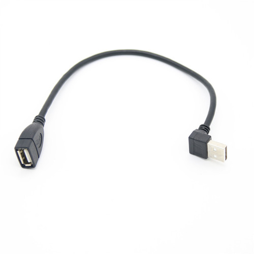 0.25M Up Angle USB 2.0 AM To AF Cable