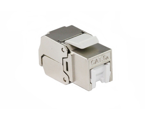 CAT6A Shielded Keystone Jack with Dust Cover