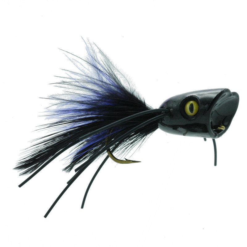 Double Barrel Popper Black Front and Side View
