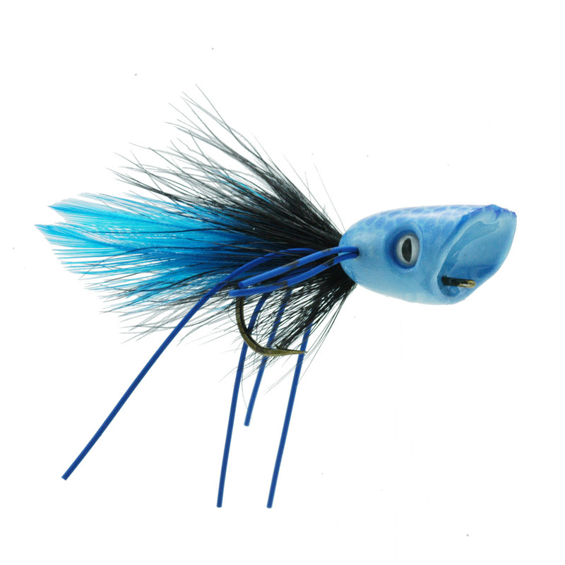 Double Barrel Popper Blue Front and Side View