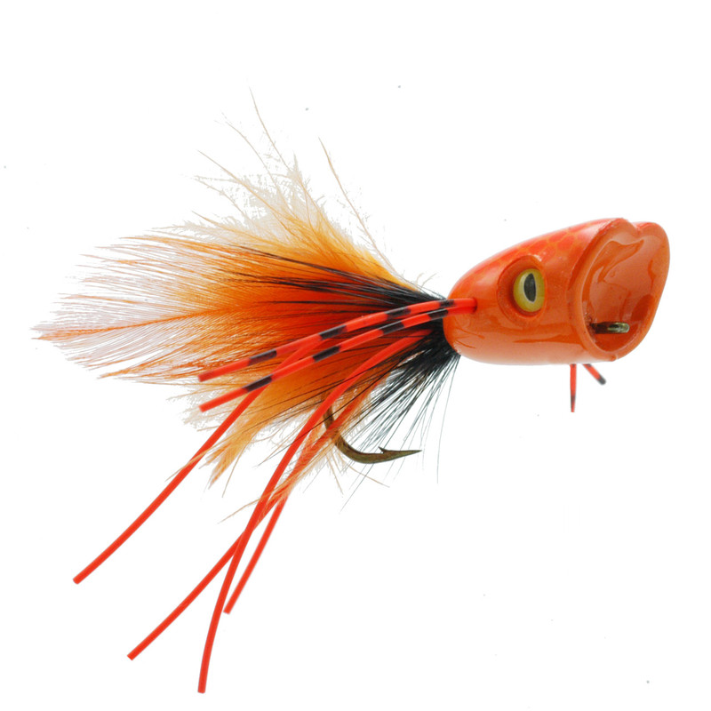 Double Barrel Popper Orange Front and Side View