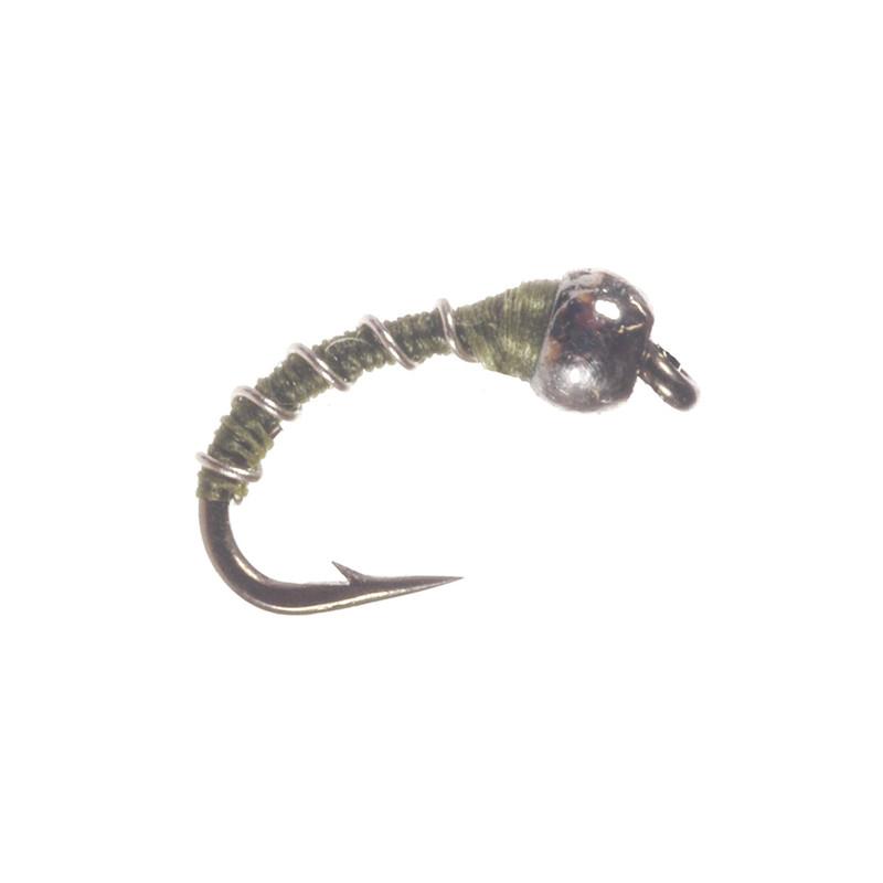Tungsten Zebra Midge Olive