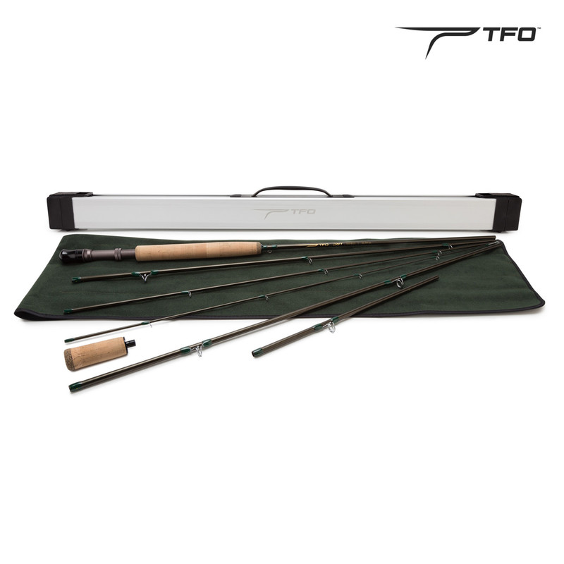 Temple Fork TFO Drift Fly Rod All the Parts and the Case