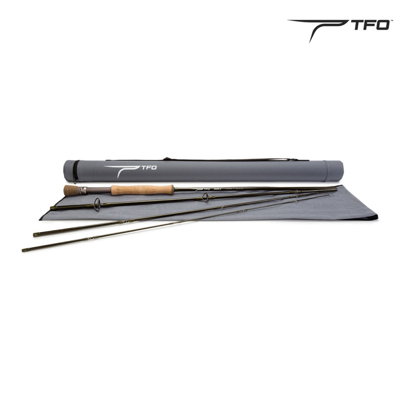 TFO Axiom II Fly Rod Shown with Sock and Tube