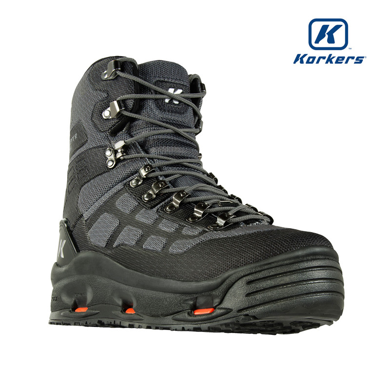 Korkers Wraptr Wading Boot Front and Side View