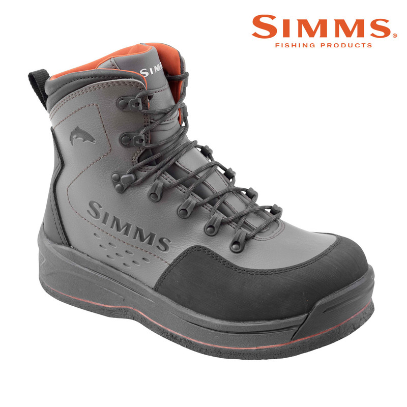 Simms Freestone Boot with a Felt Sole Front and Side View