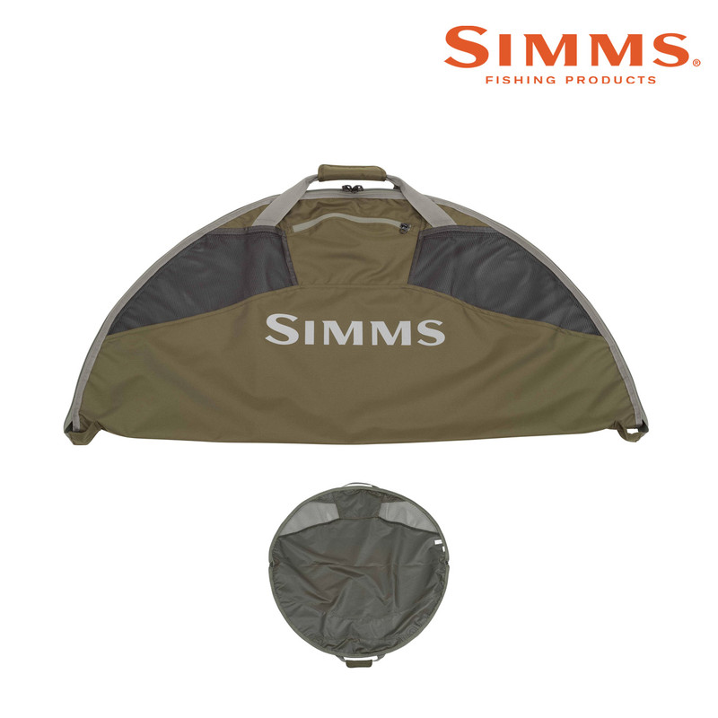 Simms Taco Bag for Waders and Wading Gear Shown Open and Closed