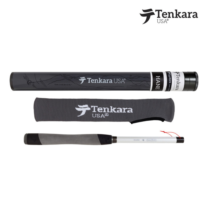 Tenkara USA Hane Fly Rod shown with Rod Tube and Rod Sock