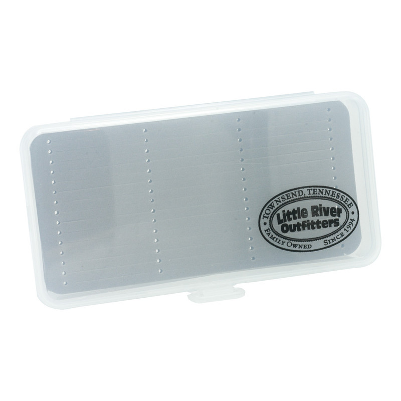 LRO Clear Poly Fly Box with Slit Foam 1463  Top View