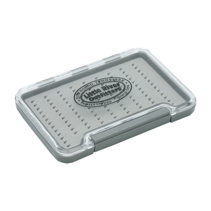 LRO Waterproof Thin Fly Box with Slit Foam 1325 Side, Front and Top View