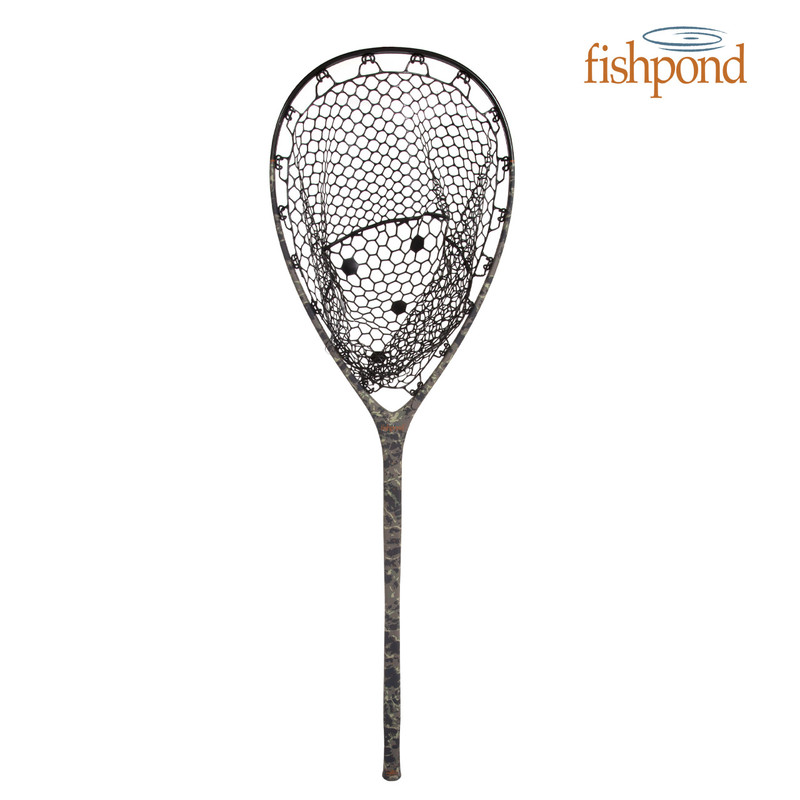 Fishpond Nomad Boat Net shown in the color Riverbed Camo