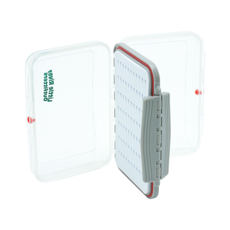 LRO Two-Sided Clear Slit Foam Small Waterproof Fly Box Shown With Both Sides Open