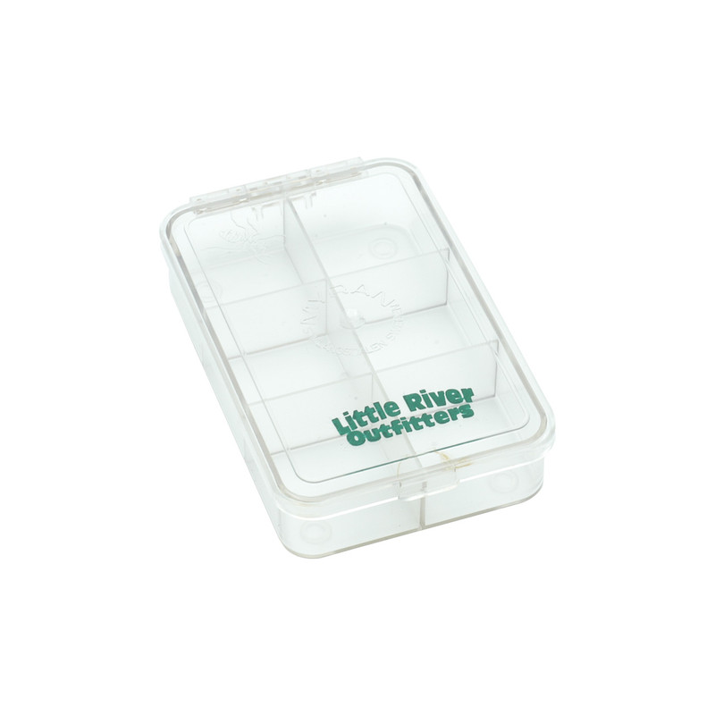 LRO Myran Small 6 Compartment Fly Box 1600 Front and Top View