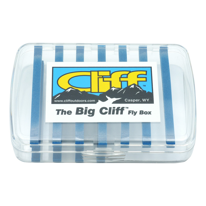The Big Cliff Fly Box Shown Closed Front and Top View