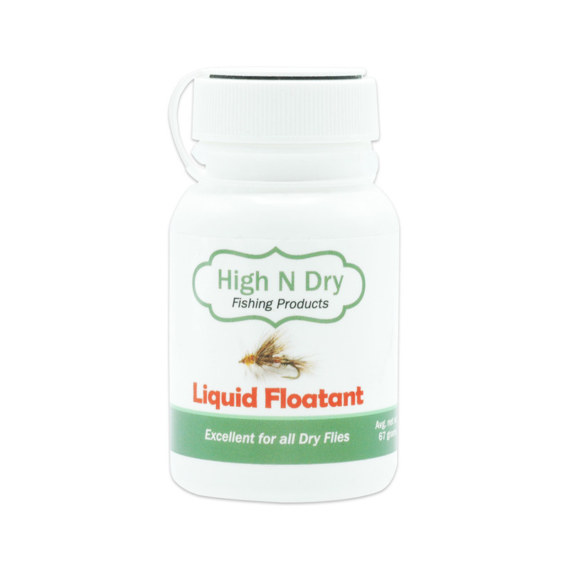 2.5 oz Bottle of High N Dry Liquid Dry Fly Floatant