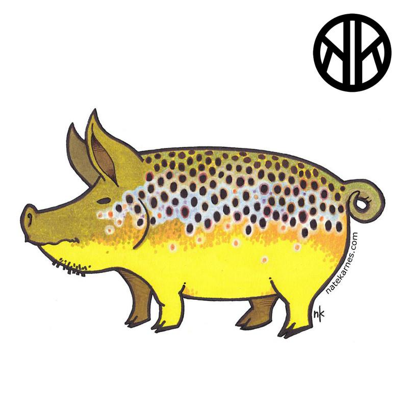 Nate Karnes Pig Brown