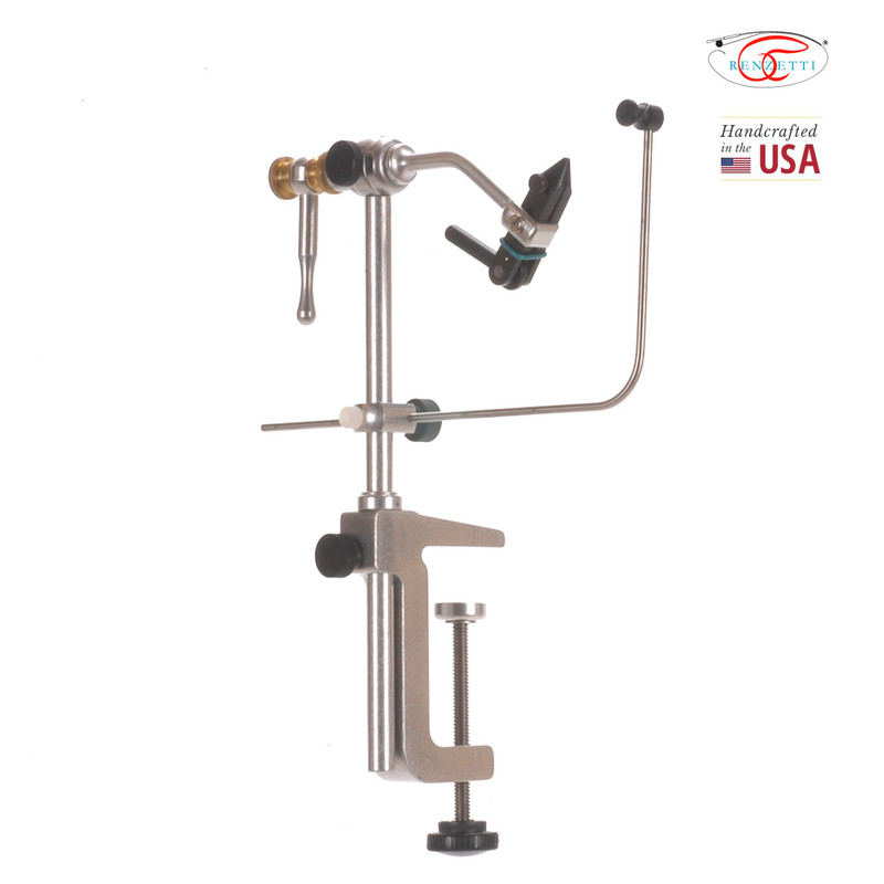 Renzetti Traveler C002 Fly Tying Vise Front Side View at an Angle Showing the Side of the Clamp