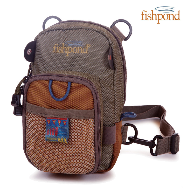 San Juan Vertical Chest Pack front view in the color Saddle Brown