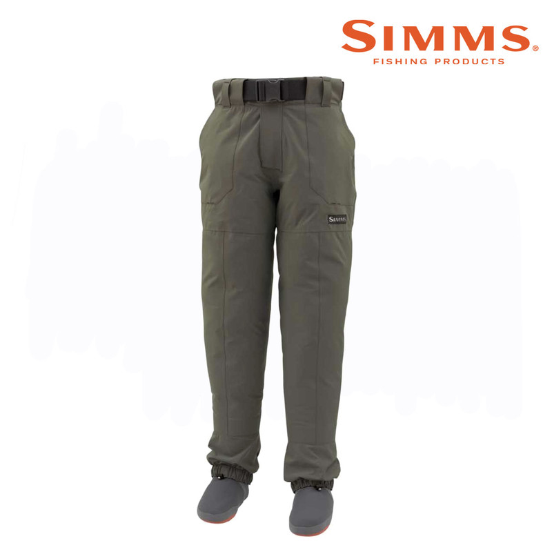Simms Freestone Wading Pant, Front and Side View.