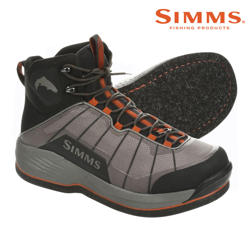 Simms Flyweight Wading Boot Felt Sole Side and Bottom View