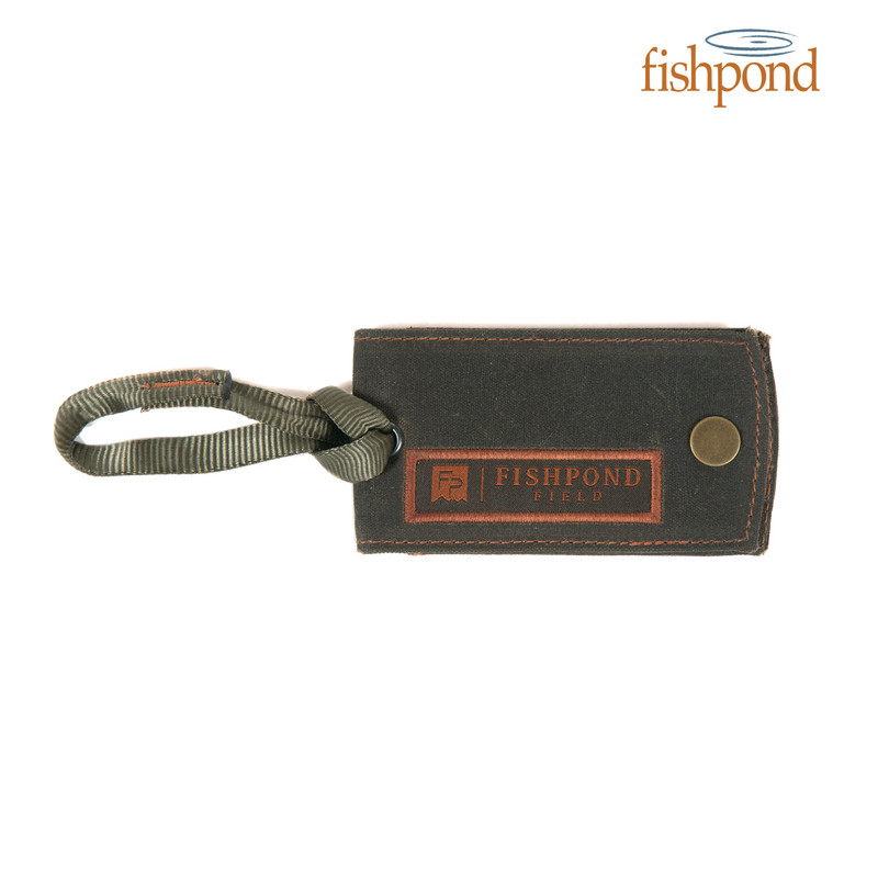 Fishpond FP Field Luggage Tag shown closed, top view.