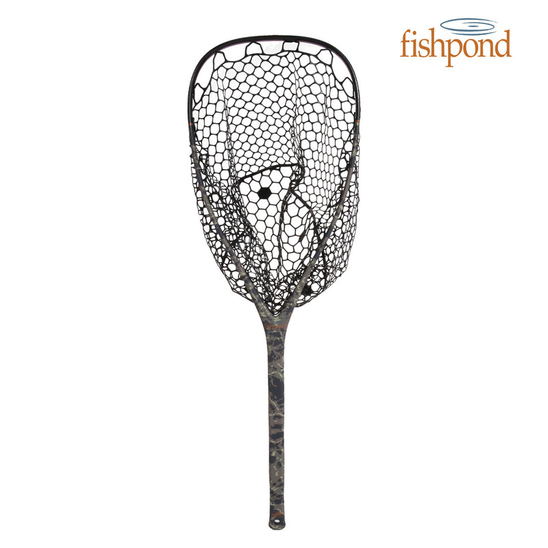 Fishpond Nomad El Jefe Landing Net shown with an optional Black Rubber Bag