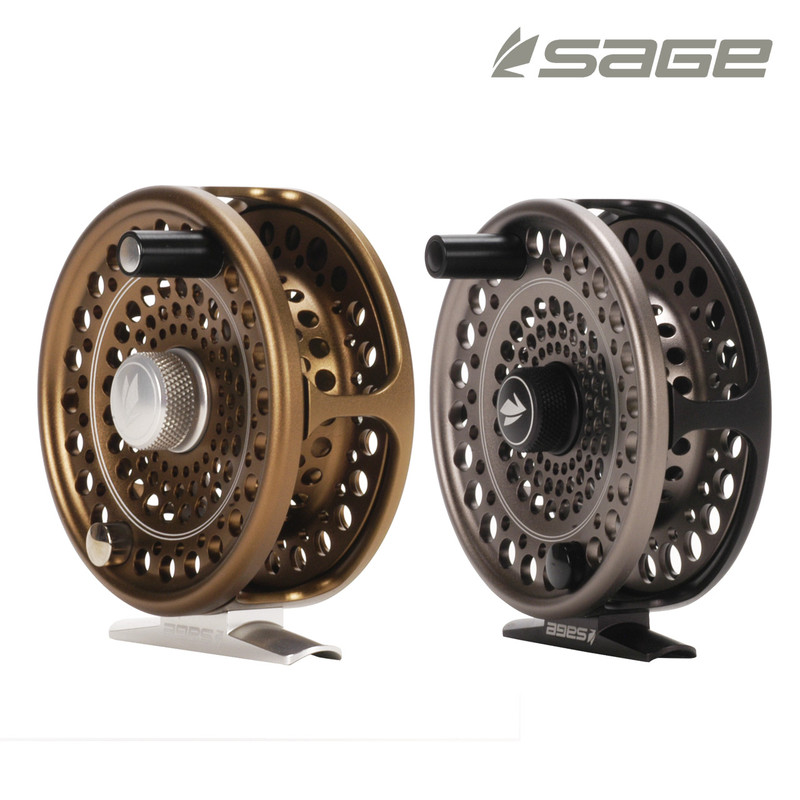 Sage Trout Fly Reel shown in both colors, Bronze and Stealth