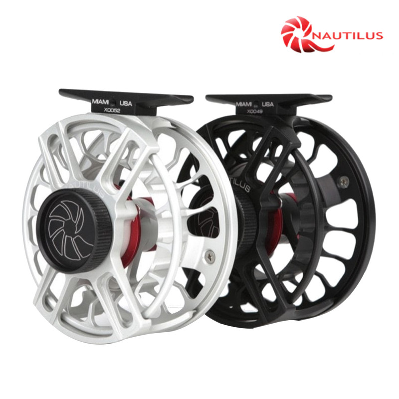 Nautilus X-Series Fly Fishing Reels shown in both colors.