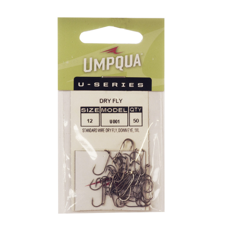 A 50-pack of Umpqua U-Series U001 Dry Fly Hooks