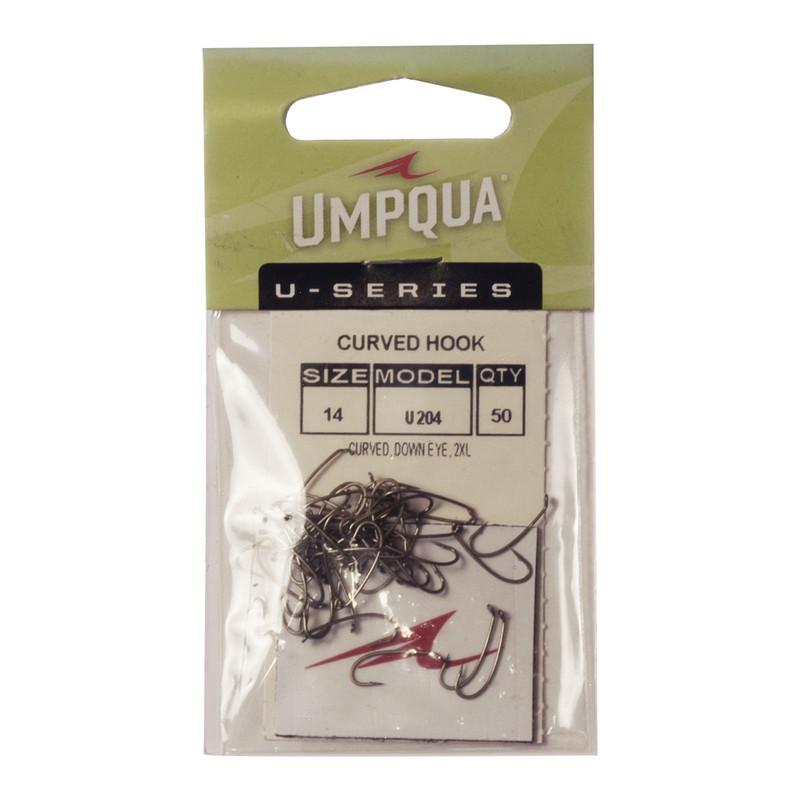 50-Pack of Umpqua U-Series U204 Curved Long Hooks
