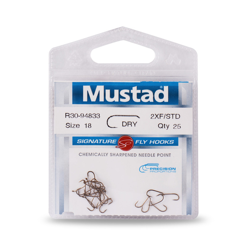 25-Pack of Mustad Signature Series R30-94833 Dry Fly Hooks
