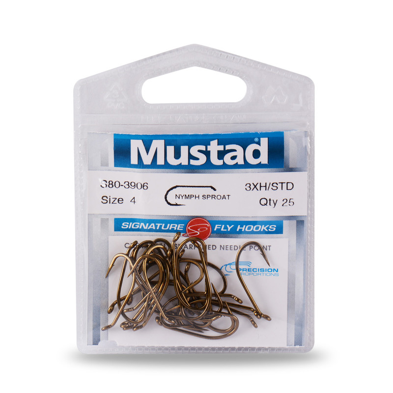 25-Pack of Mustad Signature Series S80-3906 Heavy Standard Nymph Hooks
