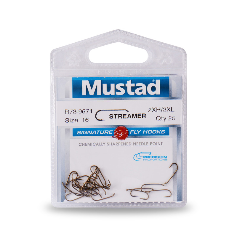 25-Pack of Mustad Signature Series R73-9671 Streamer Hooks