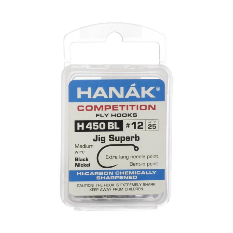 A 25 Pack of Hanak H450BL Barbless Jig Superb Hooks