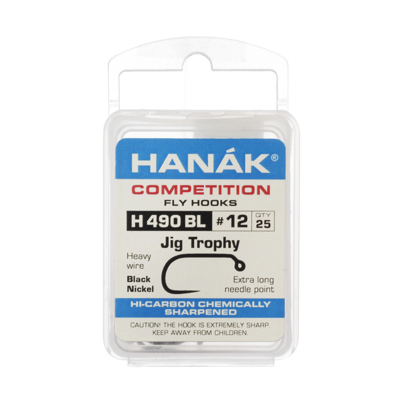 25-Pack of Hanak H490BL Barbless Jig Competition Hooks