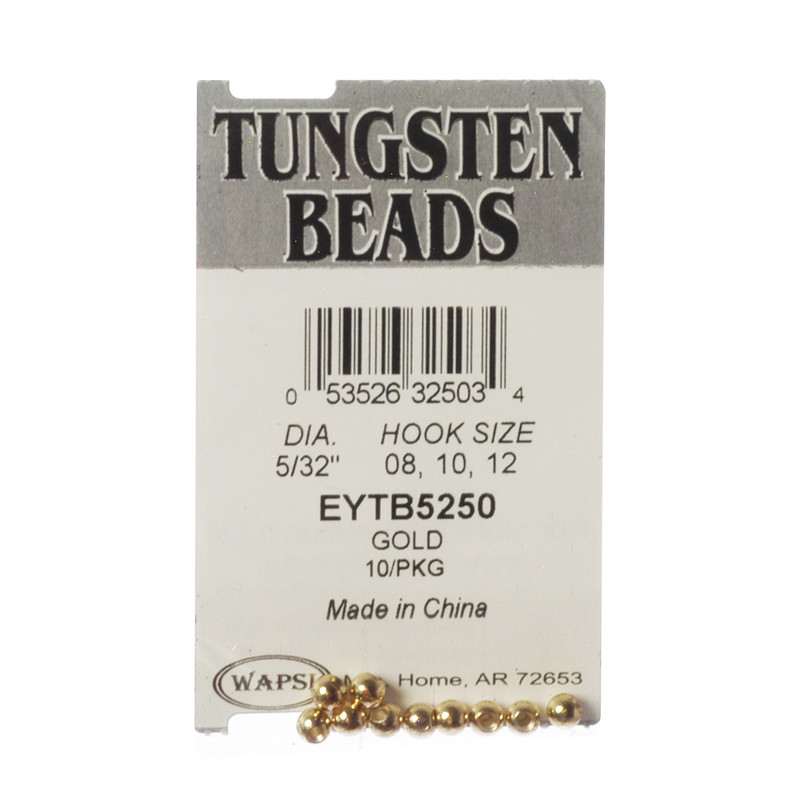 10-Pack of Wapsi Tungsten Center Hole Gold Beads
