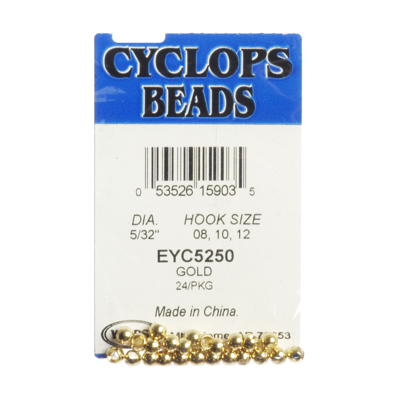 24-Pack of Wapsi Cyclops Center Hole Brass Gold Beads