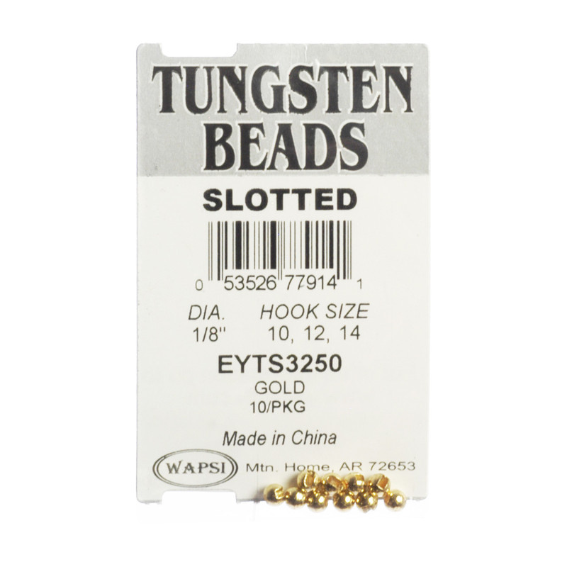 10-Pack of Wapsi Slotted Tungsten Gold Beads