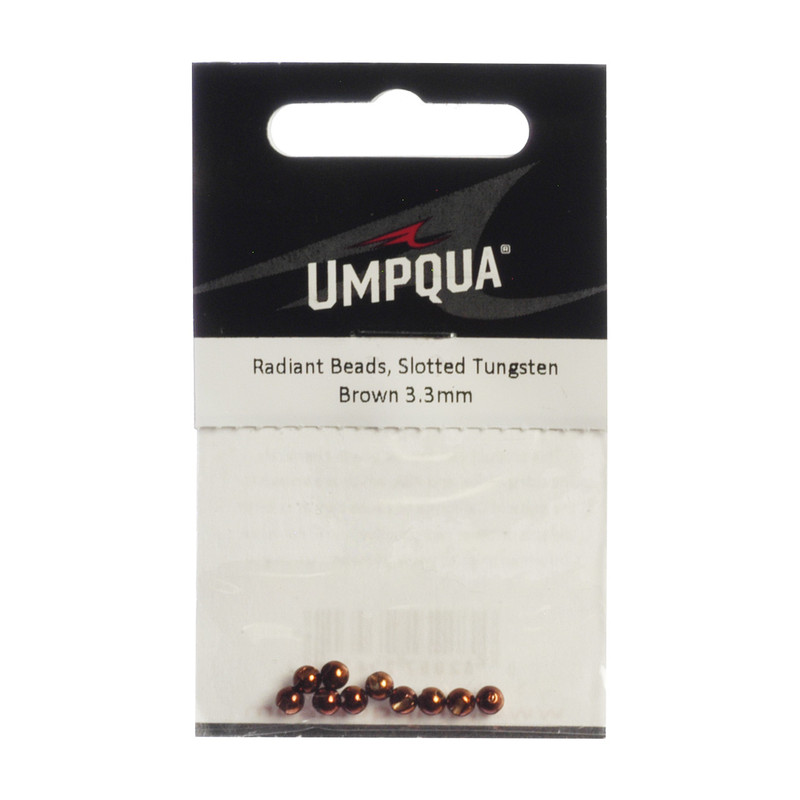 10-Pack of Umpqua Radiant Tungsten Slotted Beads
