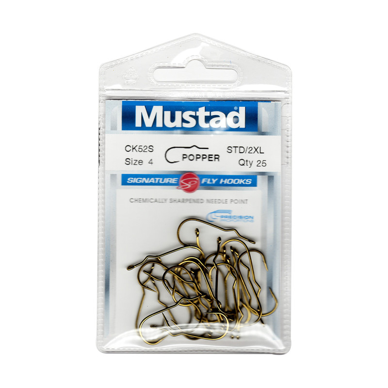 25-Pack of Mustad Signature Series CK52S Popper Hooks