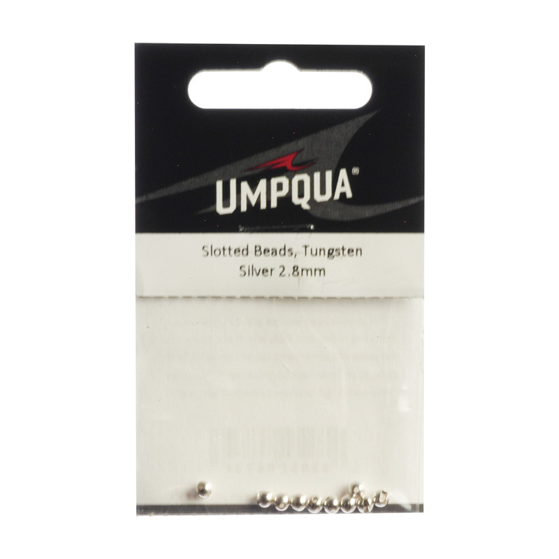 10-Pack of Umpqua Tungsten Slotted Silver Beads