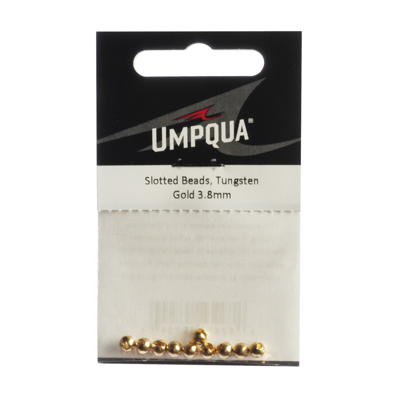 10-Pack of Umpqua Tungsten Slotted Gold Beads