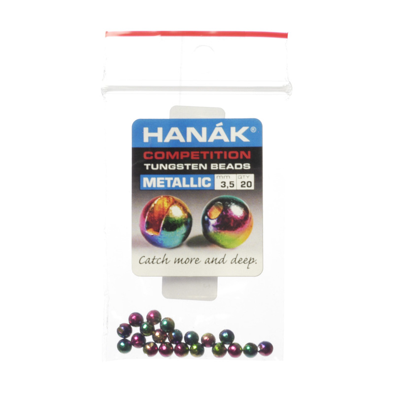 20-Pack of Hanak Tungsten Slotted Rainbow Beads