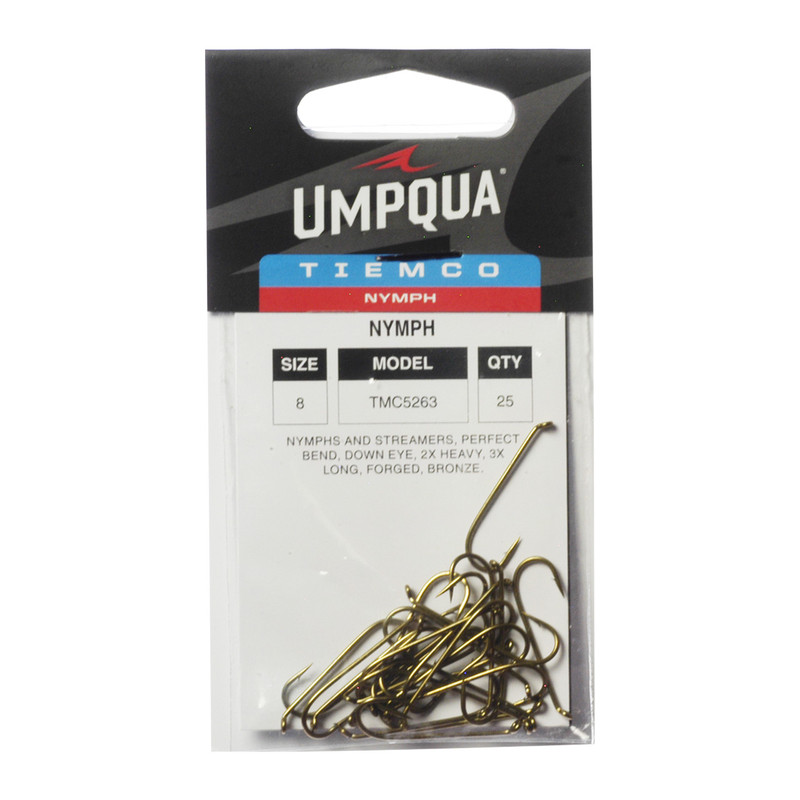 25-Pack of Tiemco TMC 5263 2X Heavy 3X Long Nymph and Streamer Hooks
