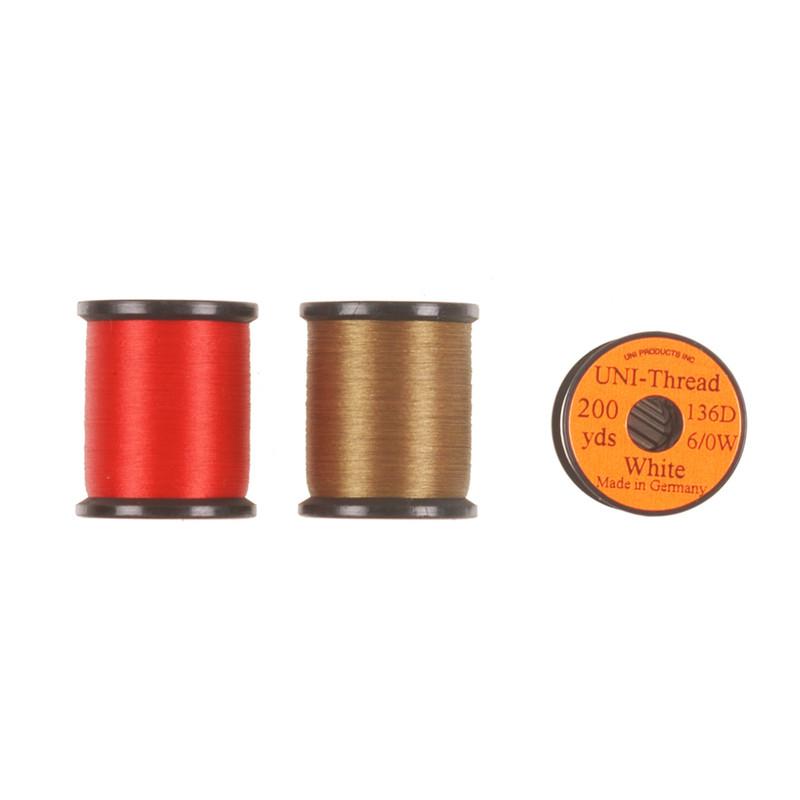 Spools of Uni-Thread 6/0 136 Denier Fly Tying Waxed Thread