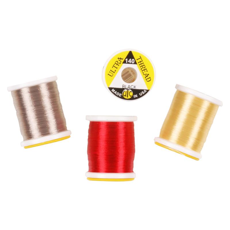 4 Spools of UTC Ultra Thread 140 Denier Nylon Fly Tying Thread