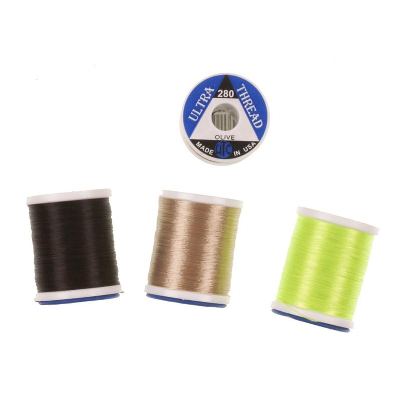 Four Spools of UTC Ultra Thread 280 Denier Nylon Fly Tying Thread